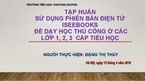 TRNG TIU HC CHNG DNG TP HUN S