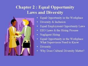 Chapter 2 Equal Opportunity Laws and Diversity Equal
