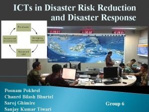 ICTs in Disaster Risk Reduction and Disaster Response