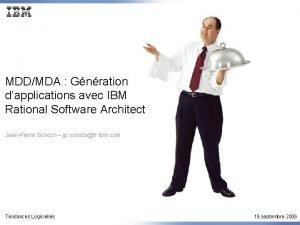 MDDMDA Gnration dapplications avec IBM Rational Software Architect
