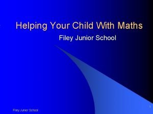 Helping Your Child With Maths Filey Junior School