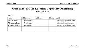 January 2019 doc IEEE 802 11 19147 r