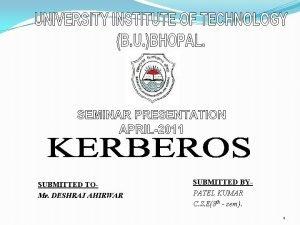 SUBMITTED TOMr DESHRAJ AHIRWAR SUBMITTED BYPATEL KUMAR C