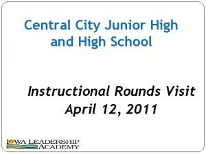 Central City Junior High and High School Instructional