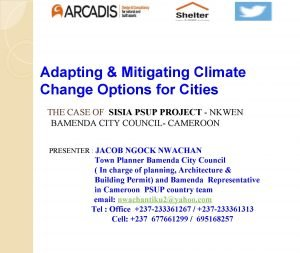 Adapting Mitigating Climate Change Options for Cities THE