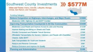 Southwest County Investments Cities and Towns Alamo Danville