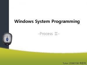 Windows System Programming Process Tutor 20060106 Create Process