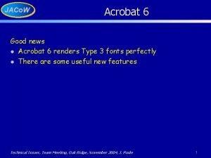 JACo W Acrobat 6 Good news l Acrobat
