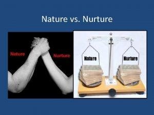 Nature vs Nurture Nature Vs Nurture Controversy What