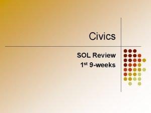 Civics SOL Review 1 st 9 weeks Citizenship