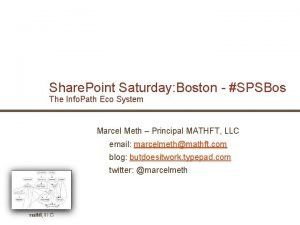 Share Point Saturday Boston SPSBos The Info Path