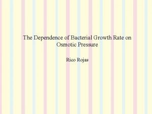The Dependence of Bacterial Growth Rate on Osmotic