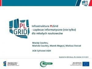 Infrastruktura PLGrid zaplecze informatyczne nie tylko dla modych