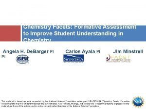 Chemistry Facets Formative Assessment to Improve Student Understanding