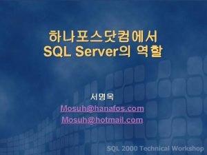 SQL Server Mosuhhanafos com Mosuhhotmail com SQL Server