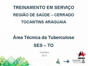 TREINAMENTO EM SERVIO REGIO DE SADE CERRADO TOCANTINS