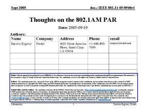 Sept 2005 doc IEEE 802 11 050940 r