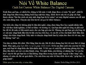 Ni V White Balance Cch Set Custom White