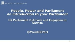 People Power and Parliament an introduction to your