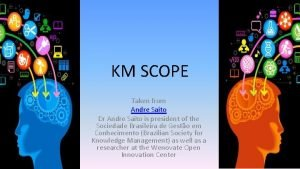 KM SCOPE Taken from Andre Saito Dr Andre