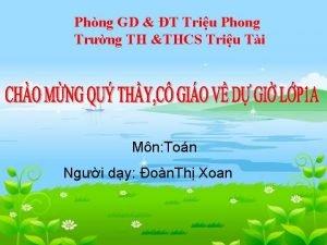 Phng GD T Triu Phong Trng TH THCS