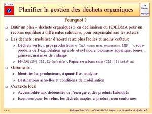 Planifier la gestion des dchets organiques Mt Marsan