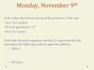 th Monday November 9 Grab a blue sheet