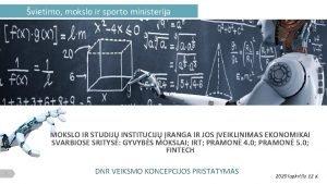 vietimo mokslo ir sporto ministerija MOKSLO IR STUDIJ