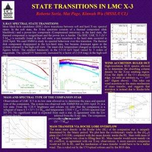 STATE TRANSITIONS IN LMC X3 Roberto Soria Mat