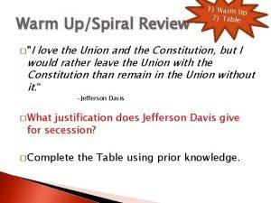 Warm UpSpiral Review 1 Warm U p 2