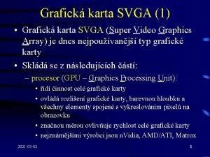 Grafick karta SVGA 1 Grafick karta SVGA Super