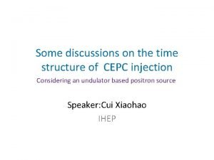 Some discussions on the time structure of CEPC