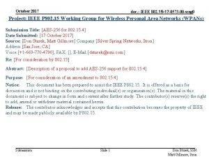 October 2017 doc IEEE 802 15 17 0573
