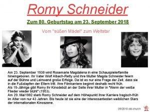 Romy Schneider Zum 80 Geburtstag am 23 September
