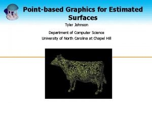 Pointbased Graphics for Estimated Surfaces Tyler Johnson Department
