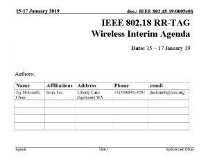 15 17 January 2019 doc IEEE 802 18