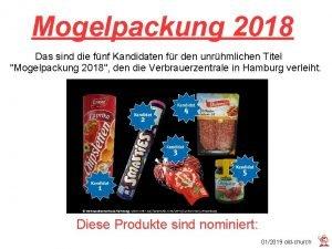 Mogelpackung 2018 Das sind die fnf Kandidaten fr