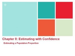 Chapter 8 Estimating with Confidence Estimating a Population