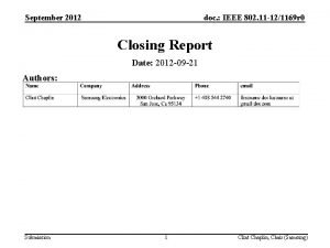 September 2012 doc IEEE 802 11 121169 r