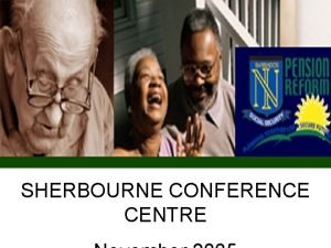 SHERBOURNE CONFERENCE CENTRE The Situation The Situation NOT