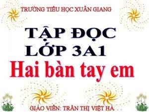 TRNG TIU HC XU N GIANG GIO VIN