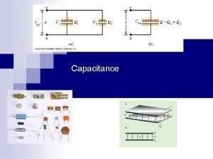 Capacitance Chapter 25 Capacitance A capacitor consists of
