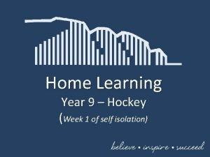 Home Learning Year 9 Hockey Week 1 of