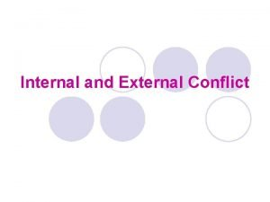 Internal and External Conflict What is Conflict l