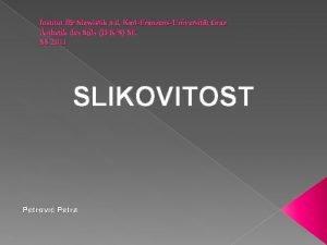 Institut fr Slawistik a d KarlFranzensUniversitt Graz sthetik