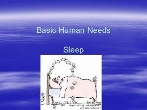 Basic Human Needs Sleep Sleep Proper rest sleep