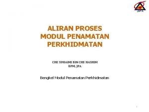 ALIRAN PROSES MODUL PENAMATAN PERKHIDMATAN CHE SUHAIMI BIN