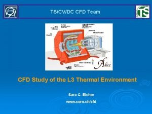 TSCVDC CFD Team CFD Study of the L