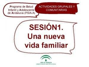Programa de Salud ACTIVIDADES GRUPALES de Salud ACTIVIDADES