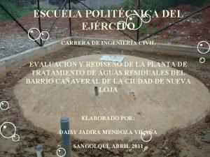 ESCUELA POLITCNICA DEL EJRCITO CARRERA DE INGENIERA CIVIL